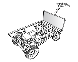 Motobarrow technical illustration